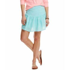 NWOT Vineyard Vines Blue Linen Skirt Size 4